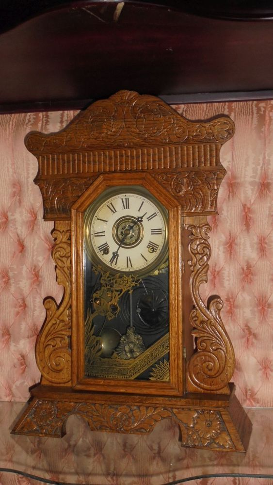 Gilbert Kitchen Clock Banquettes Gorgeous William L Gingerbread Working C 1900