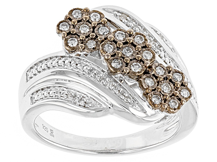 45da3e0c2 Champagne And White Diamond Silver Ring .25ctw in 2019 | Products ...