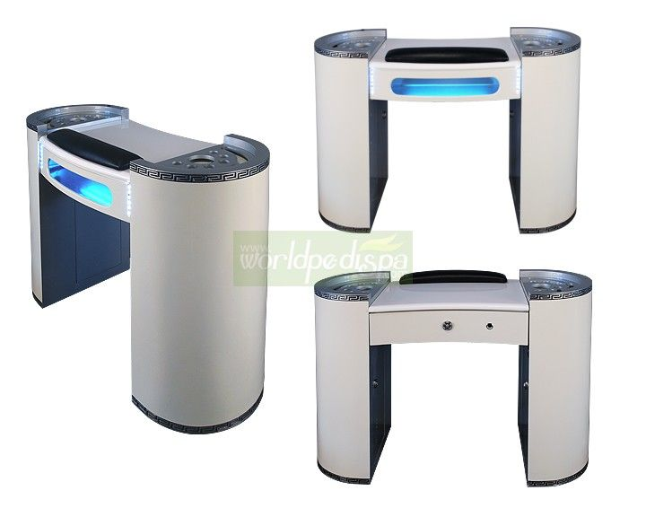 Hz tk nail table manicure tables salon furniture for Nail salon table