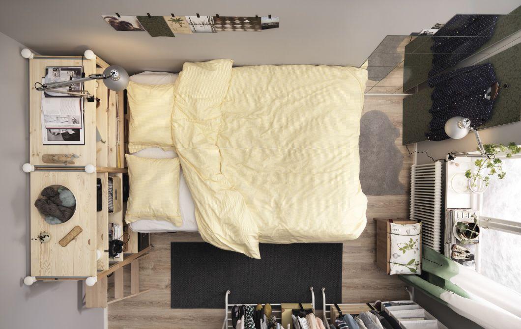 IKEA Deutschland | Quadratmeterchallenge: Winziges Schlafzimmer Einrichten.  Die IVAR Regal DIY Anleitung Findet Ihr