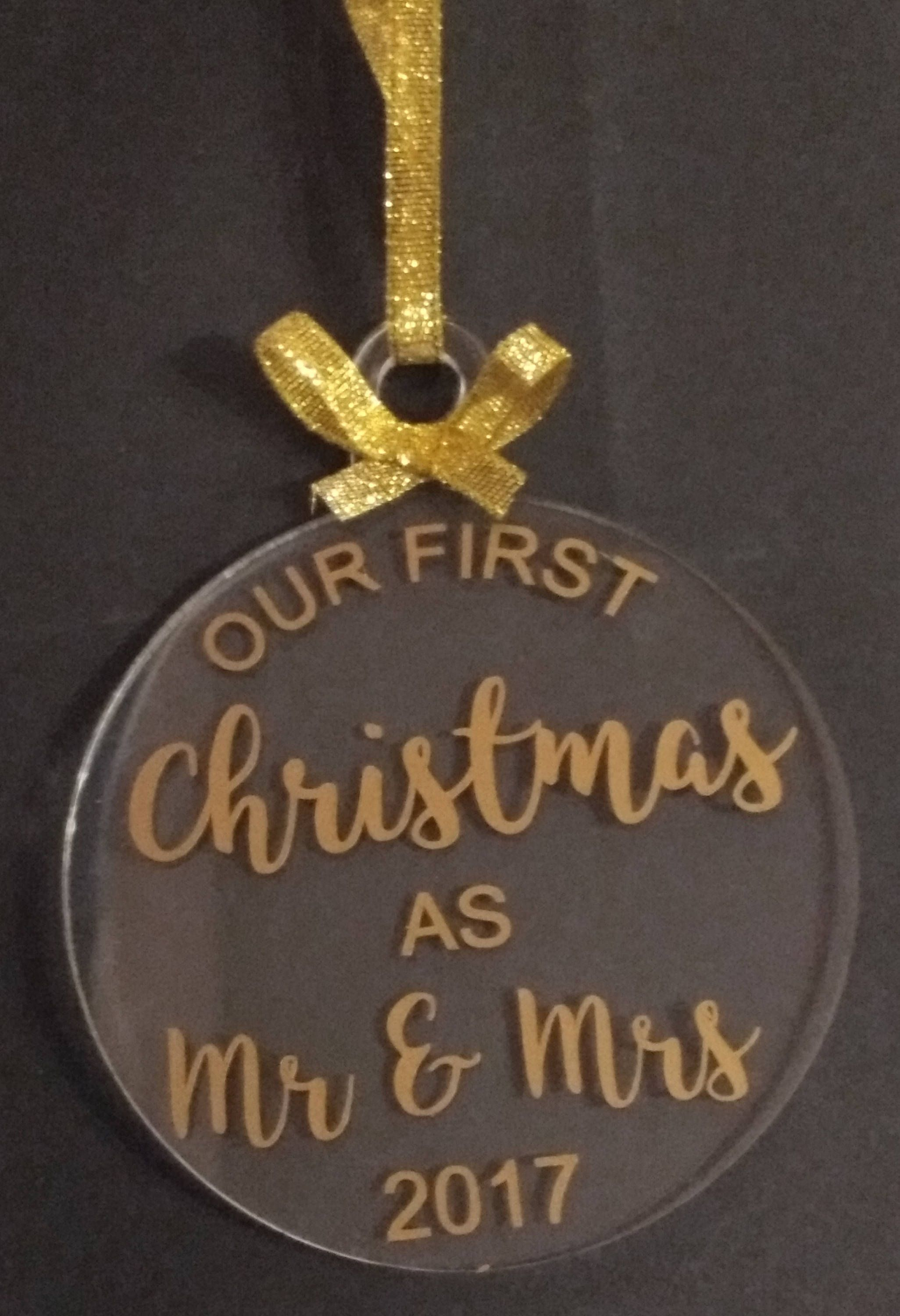 our first christmas as mr mrs babys first christmas personalised christmas decoration mr