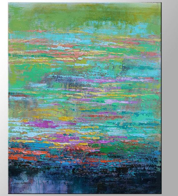 Abstract Painting Contemporary Art Large Oil by GeorgeMillerArt