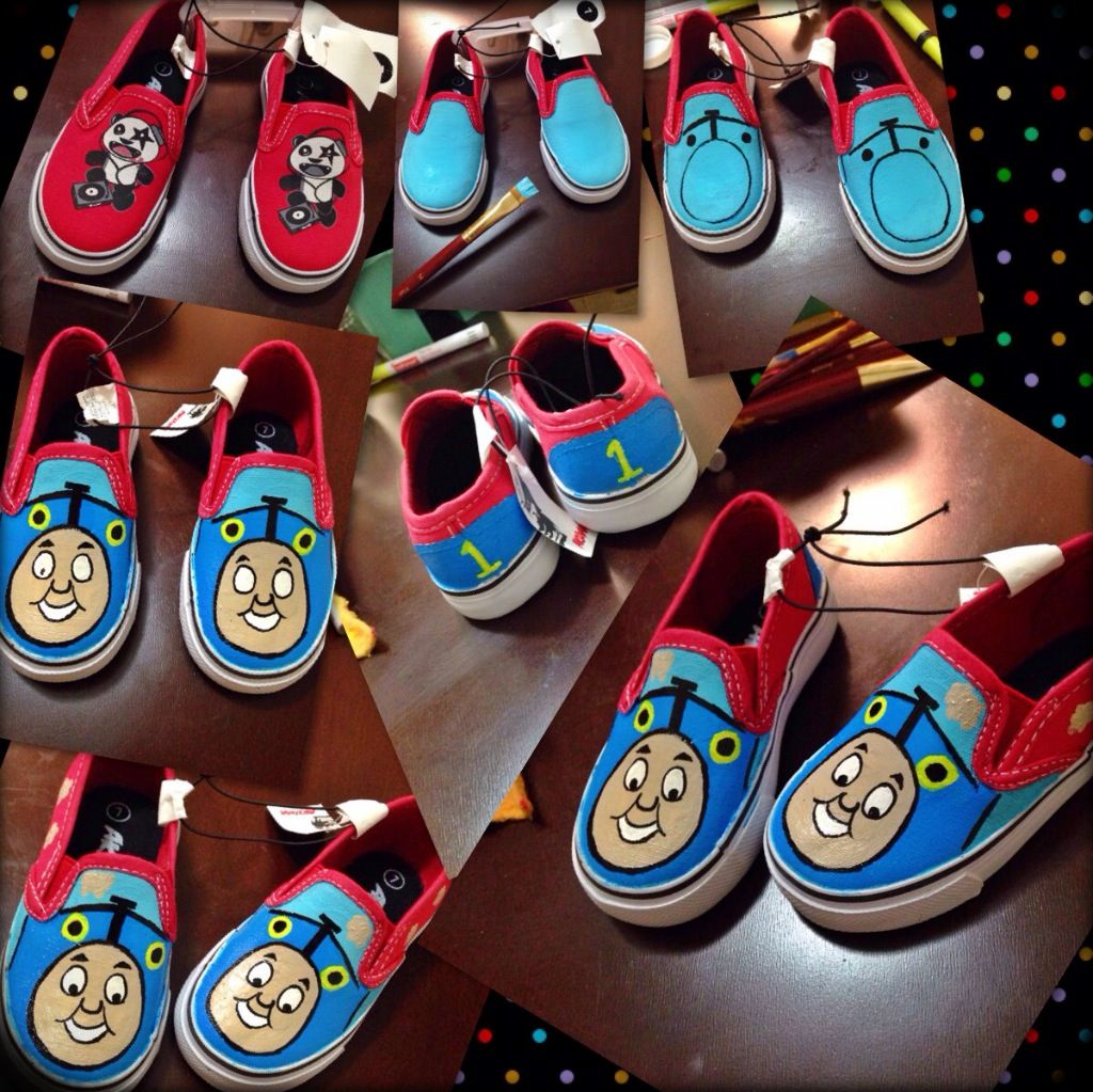 Diy thomas the train shoes for bode thomas pinterest for Bode mode versand