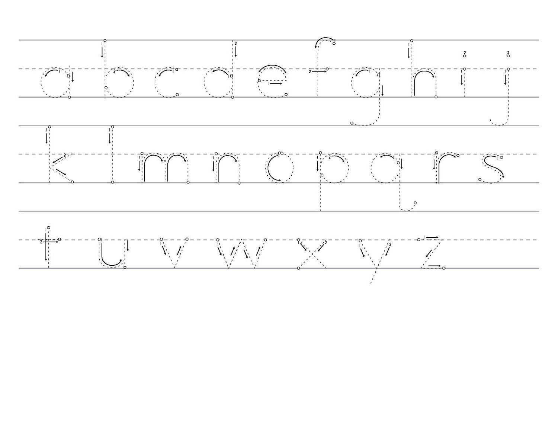 Traceable Alphabet Worksheets A Z