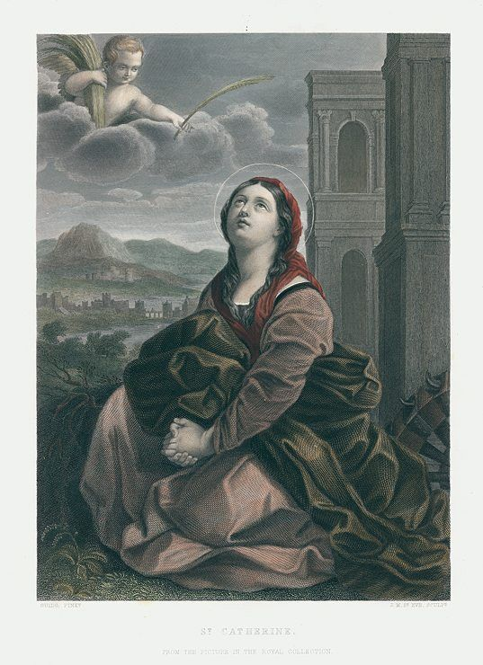 St.Catherine, after Guido Reni, 1856