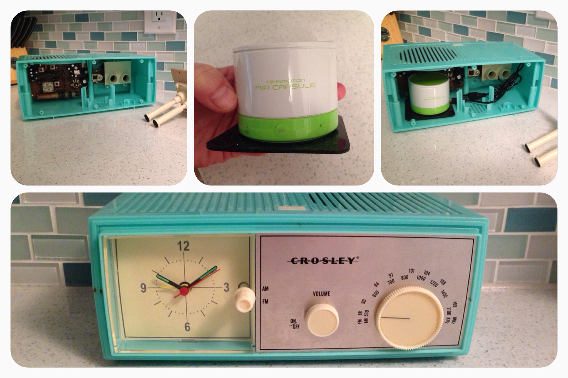 Convert An Old Radio To A Bluetooth Speaker 1 Gut The Radio Especially The Speaker 2 Buy This Awesome Little Bluetoo Retro Crafts Old Radios Retro Radios
