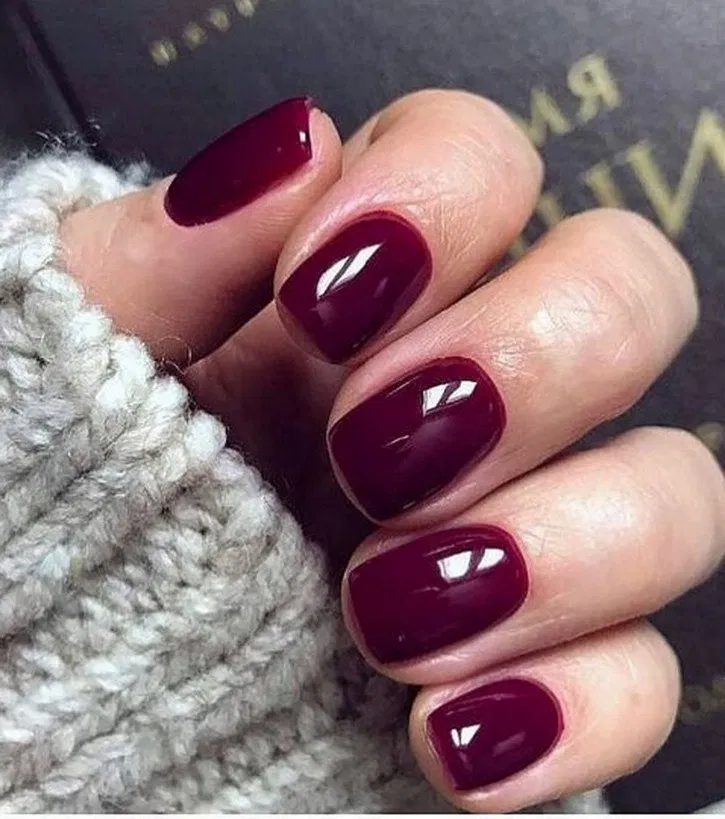 27 Chic Winter Nail Designs For Short Nails > yunshomes.com