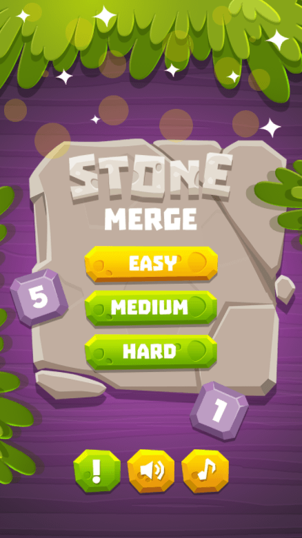 Stone Merge - HTML5 Puzzle Game (Construct 2/3) #gameinterface