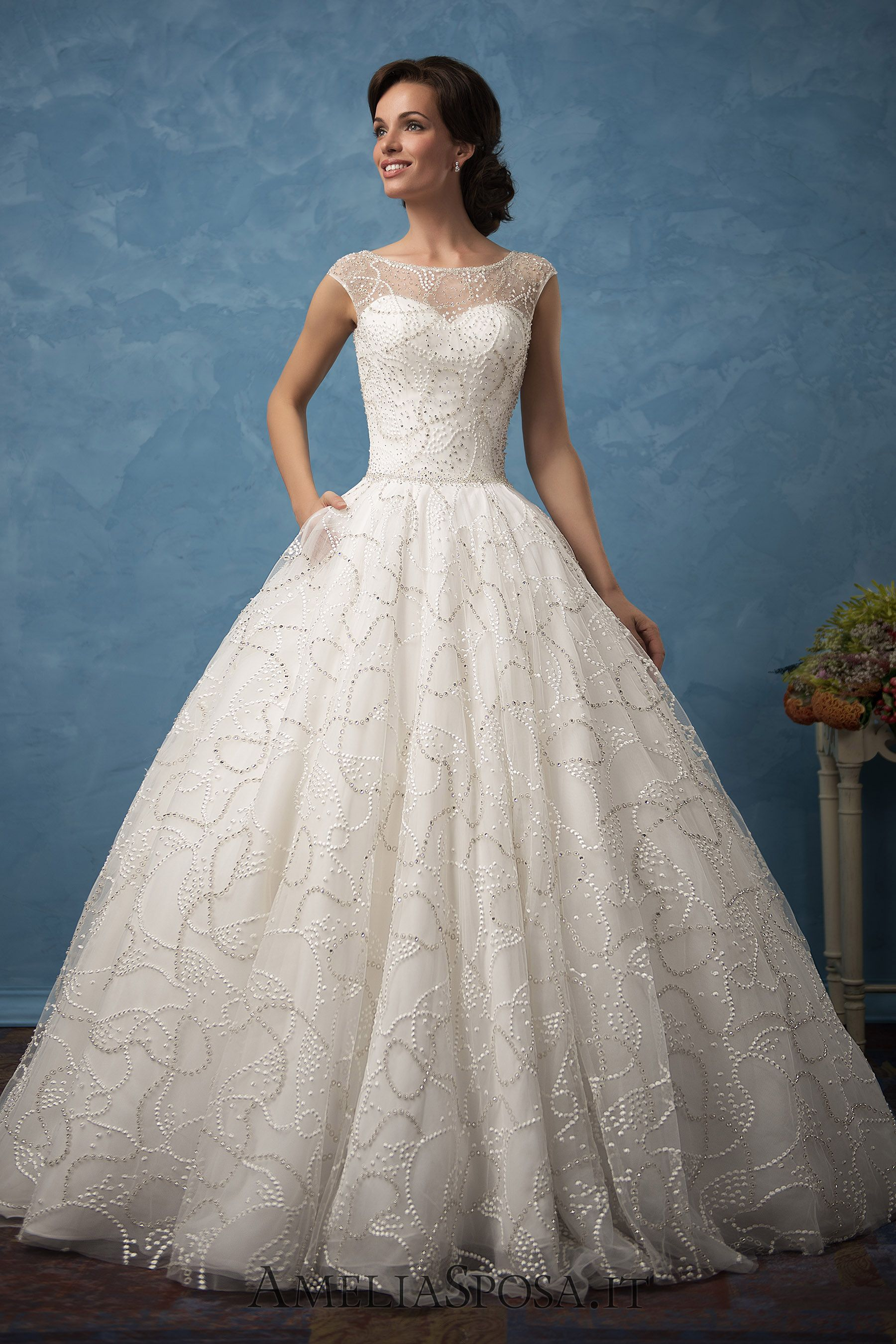 Wedding dress vanessa silhouette aline ball gown amelia sposa
