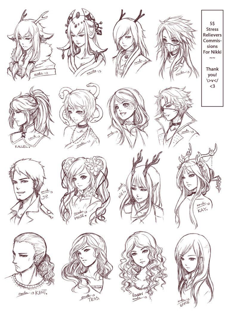 Oh wow Another hair reference  Sketch head, Sketches, Art