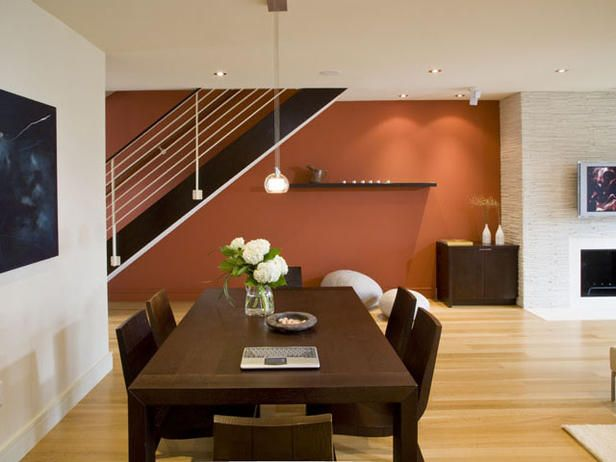 Burnt Orange Wall Paint Dining Room Contemporary With Aqua: Color Scheme For The Office