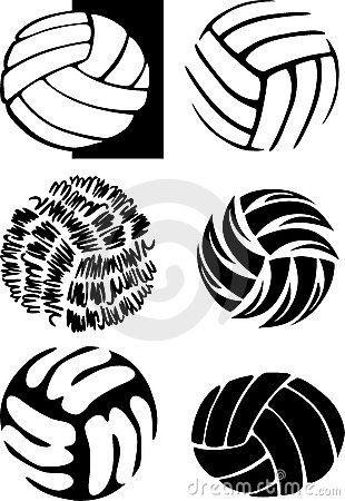 Volleyball Ball Images. Imágenes en blanco y negro de balones de ...
