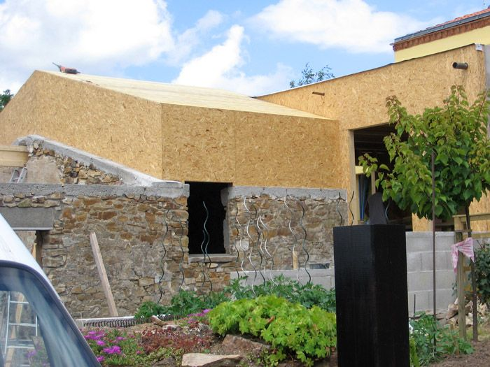 surélévation maison en OSB MM Pinterest Extensions, Roof