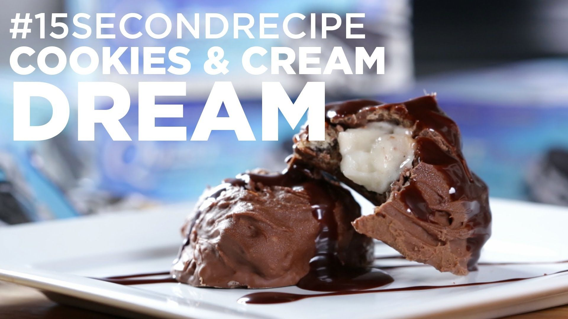 Having dreams of #CookiesAndCream? WATCH the Cookies and Cream Dream #15SecondRecipe. Special guest appearance from Arctic Zero!