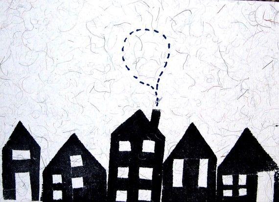 Houses Silhouette   Laura Wennstrom