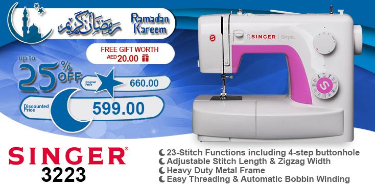 Singer 3223 #ramadan #kareem #discount #sale #sewing #machine #singer #stitch #fashion #online #mall