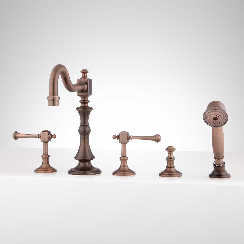Vintage Roman Tub Faucet and Hand Shower - Lever Handles | Faucet ...