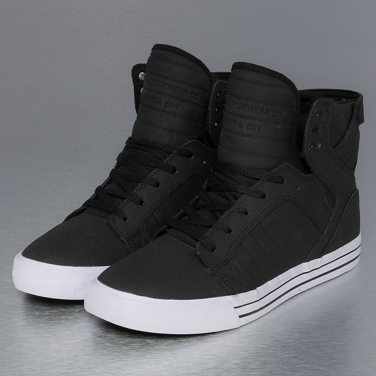 Supra Skytop Skate Shoes BlackWhite | Sneakers men fashion