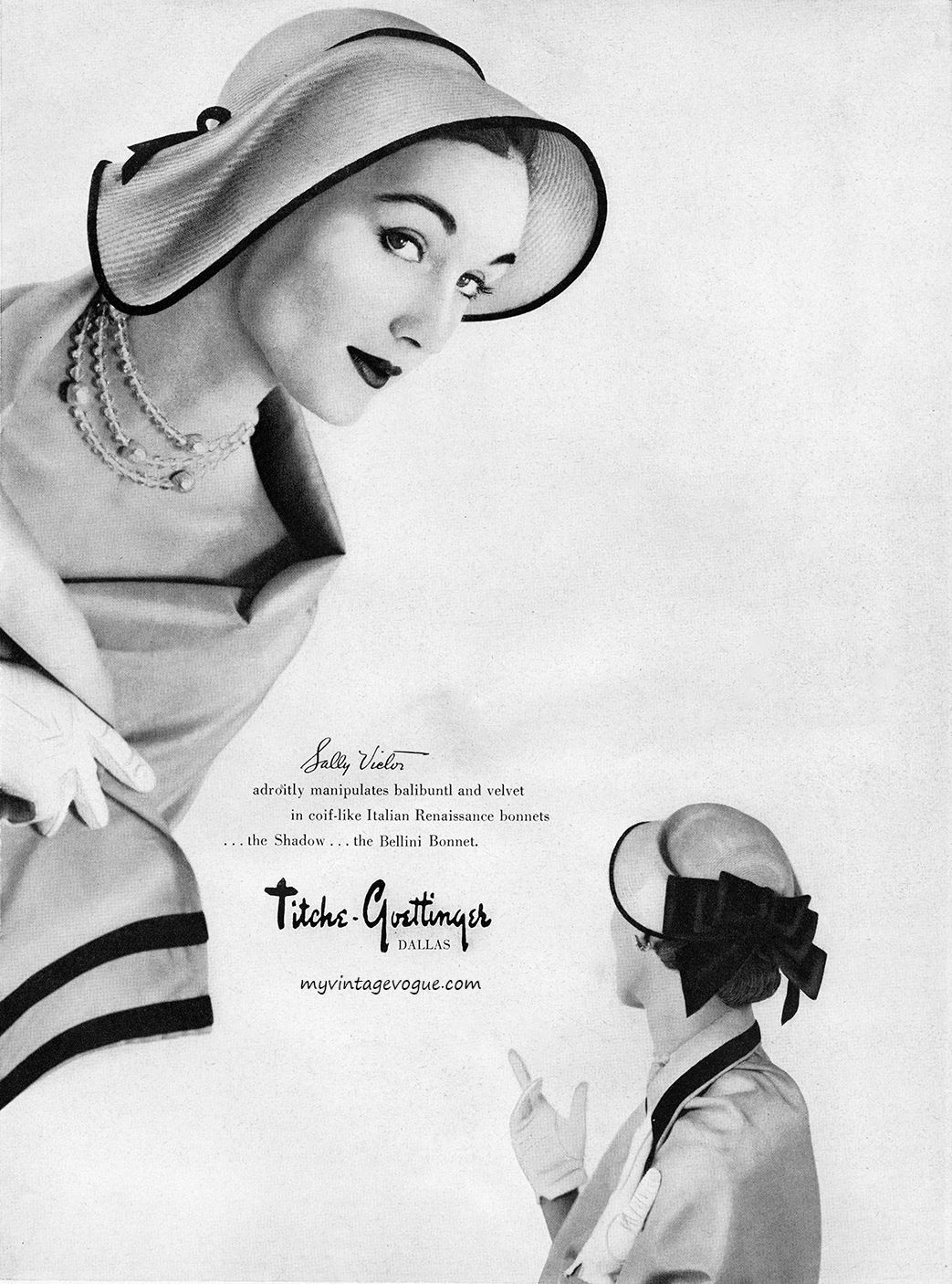 Evelyn Tripp, Sally Victor Hat, 1950 | My Aunt Evelyn was oh so fab ...