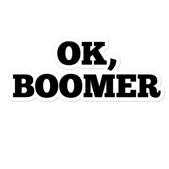 Ok Boomer Sticker Funny Tiktok Meme Vinyl Decal Laptop Car