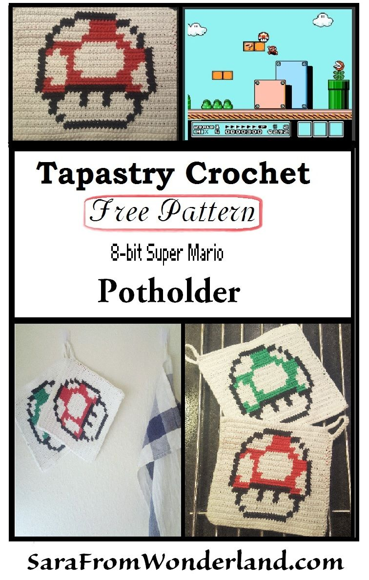 Tapestry crochet potholder - FREE pattern. More free patterns at ...