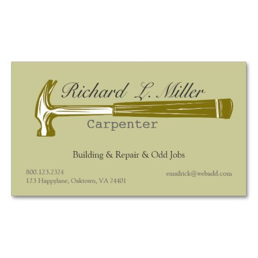 Handyman carpenter woodwork business card templates my style handyman carpenter woodwork business card templates flashek Gallery