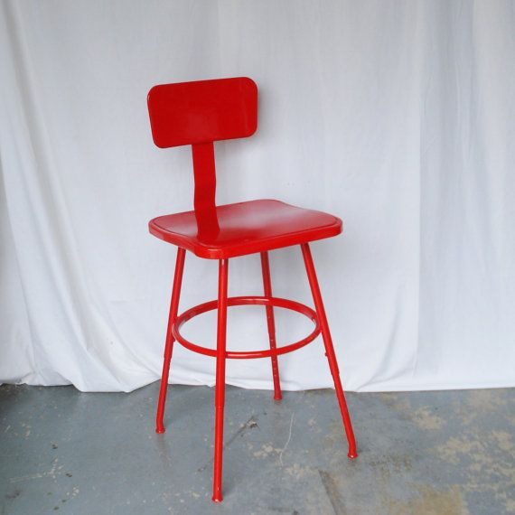 Vintage Industrial Drafting Stool Shop Stool by AlegriaCollection