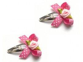 Haarspeldjes roze met roosje | Haarspeldjes Meisje | Flori for You