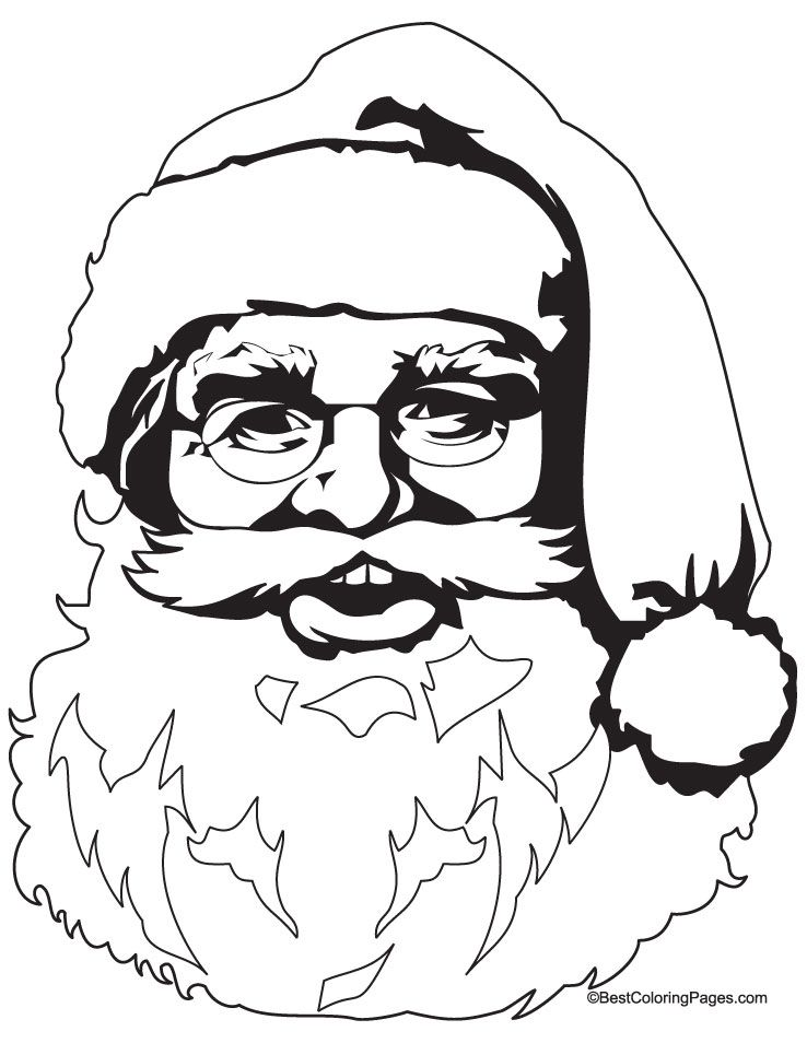 santa coloring pages bing images