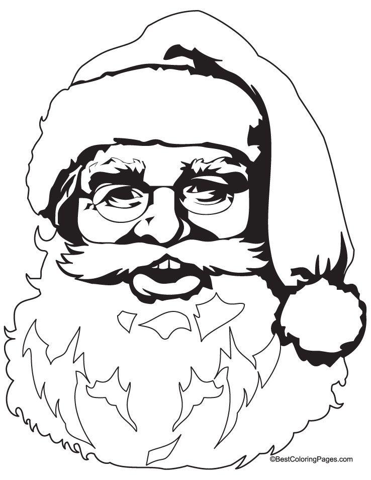 santa coloring pages bing images