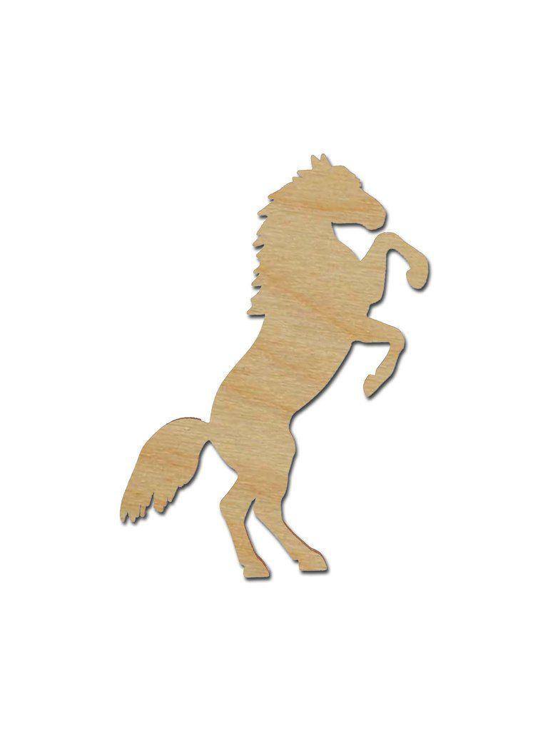 Horse Shape Unfinished Wood Animal Cutouts Variety of Sizes