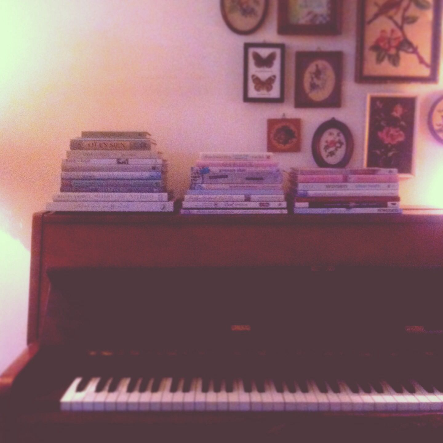 Book storage at the piano :)