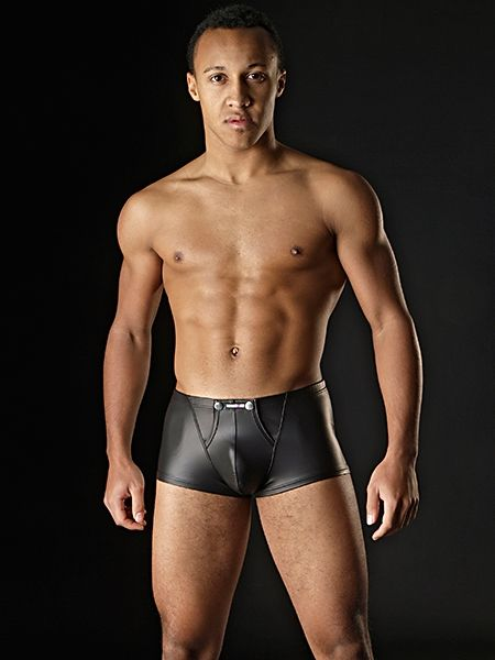 Manstore Clubwear M104 Wetlook Click Pants schwarz