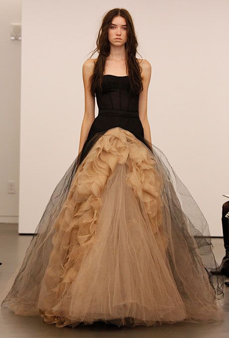 e4a4140fa4f3 Brides: Vera Wang - Fall 2012 : Not all gowns have to be whilte. This is  for the rebel in you