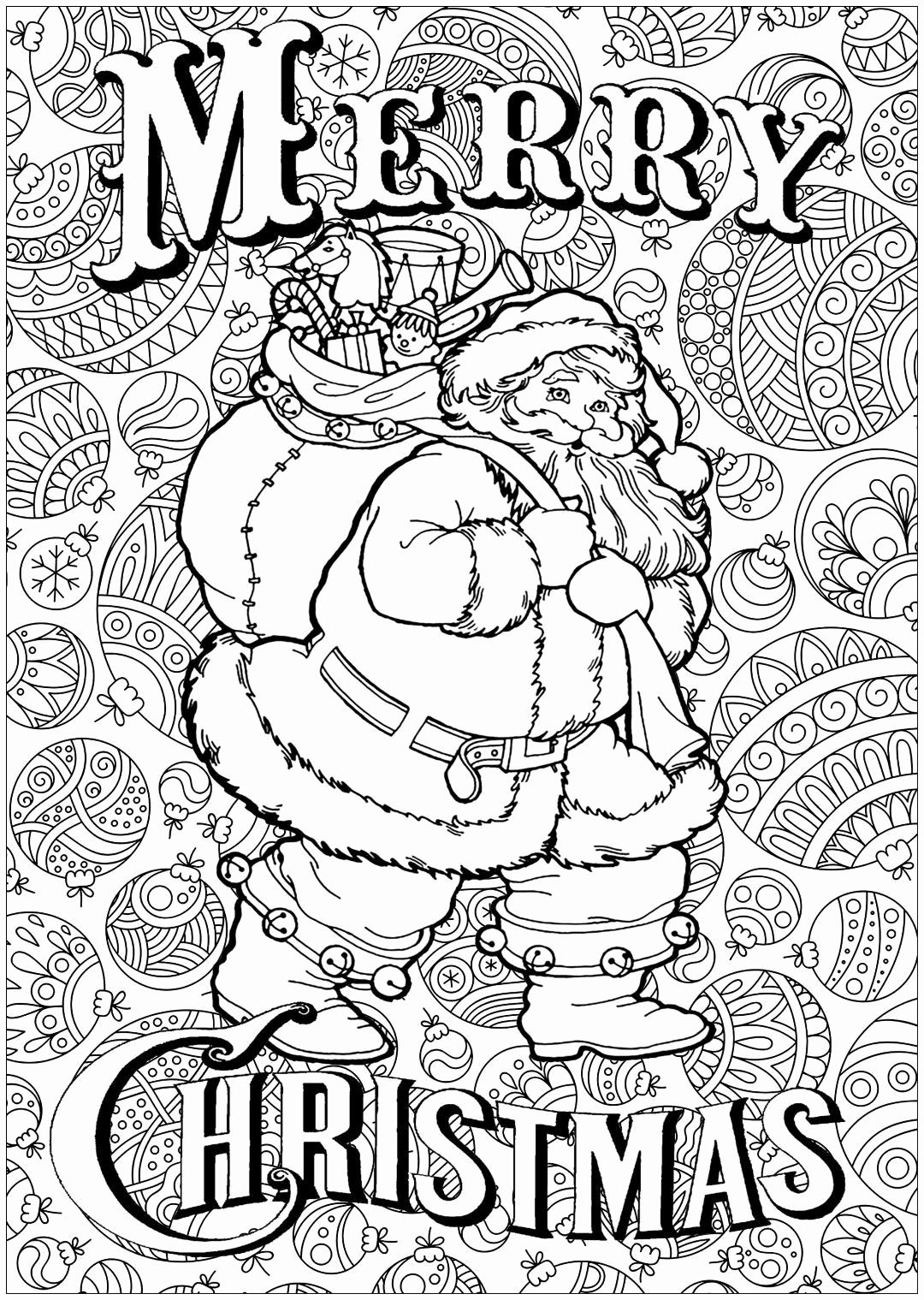 Christmas Coloring Pages Online Luxury Christmas Coloring Pages For Adul Santa Coloring Pages Merry Christmas Coloring Pages Printable Christmas Coloring Pages
