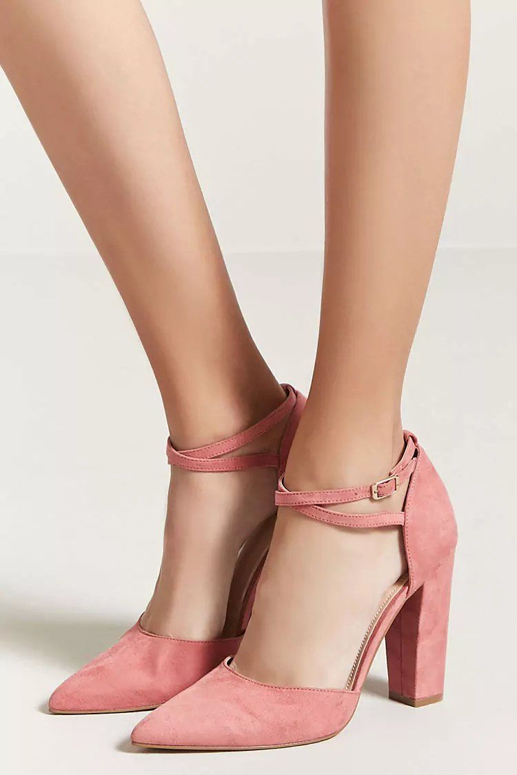 Faux Suede Ankle Strap Heels | Forever21 | Zapatos de chicas