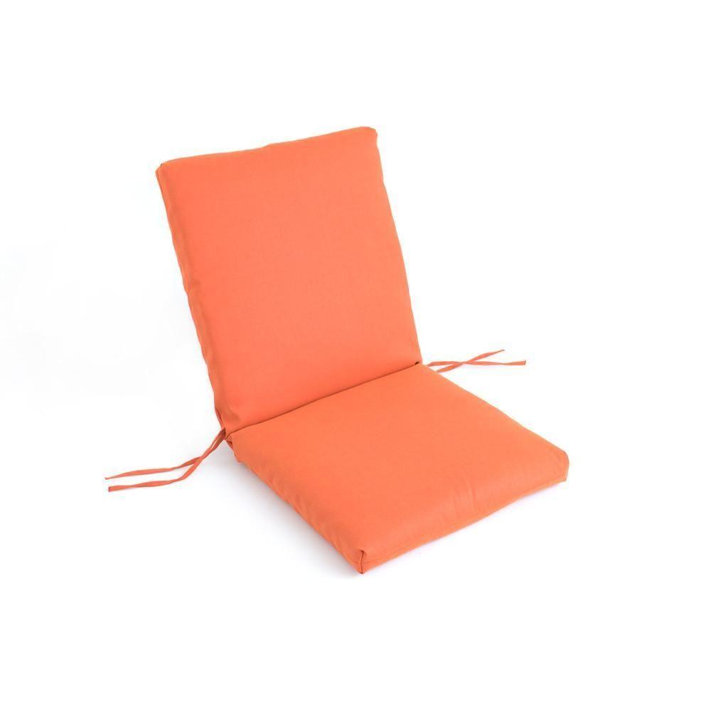 sunbrella clean look chair cushion with back