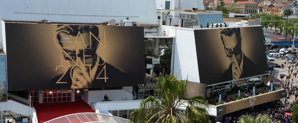 #HP presume de ser responsable de la #impresion de estos enormes carteles de #Cannes2014