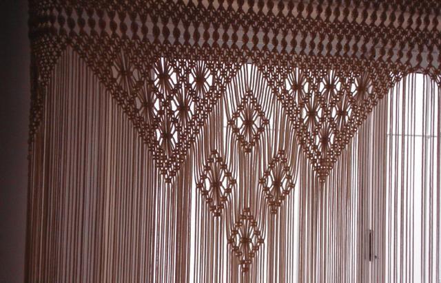 cortinas verdadera artesania en macrame anuncios diversos todo argentina macrame. Black Bedroom Furniture Sets. Home Design Ideas