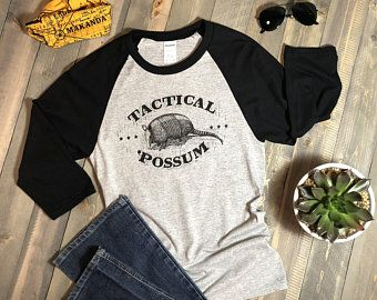 d5356d749 Tactical 'Possum, Gift for Dad, Armadillo, Armadillo Shirt, Gift for Her, Pun  Shirt, Boyfriend Gift, Baseball Shirt, Vintage Shirt, Black