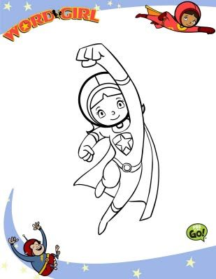 Wordgirl Coloring Page Grant Fun Word Girl Coloring For Kids