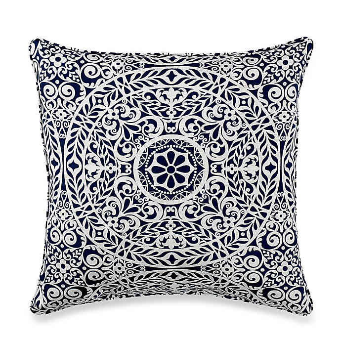 Print Indoor Outdoor 17 Inch Square Throw Pillow Bed Bath