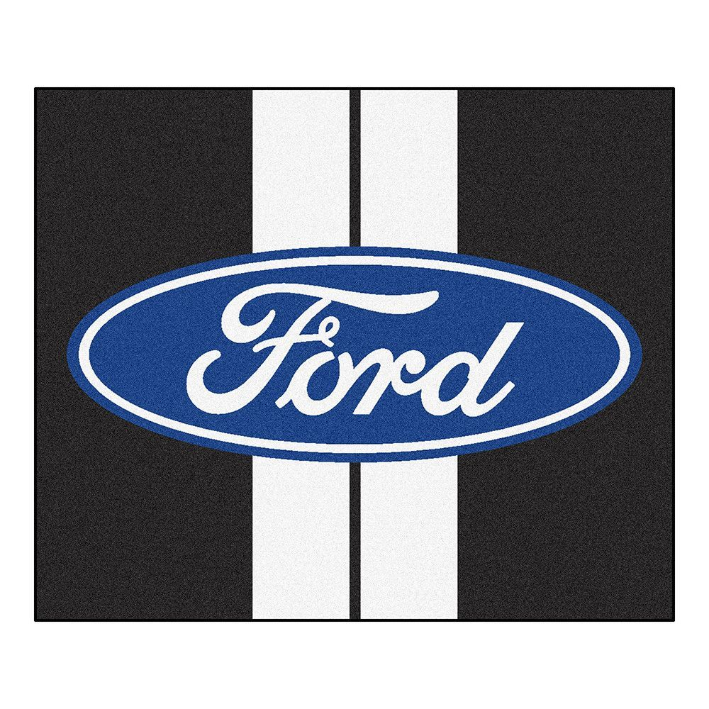 Ford Ford Oval with Stripes Tailgater Floor Mat (5'x6')