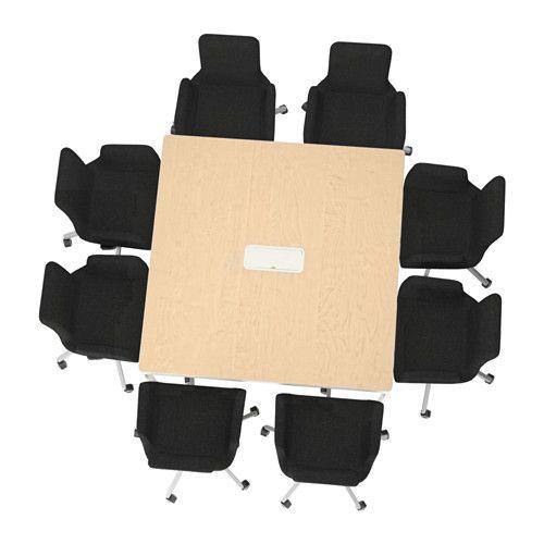 Konferenztisch Ikea bekant conference table black brown white birch conference room