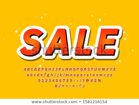 Sale Font trendy colorful 3d typography alphabet sans serif style promotion party poster sale banner offer Vector