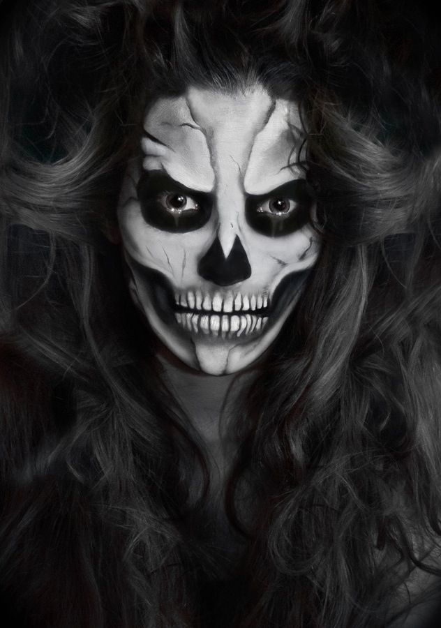 Skeleton Makeup :Looking past the evil and creepiness of this, and ...