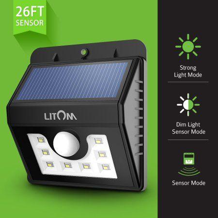 Litom super bright 8 led solar powered wireless security motion litom super bright 8 led solar powered wireless security motion sensor light with three intelligent modes aloadofball Gallery