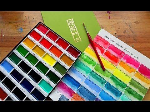 Kissho Gansai Japanese Watercolor Paint 72 Colors Set