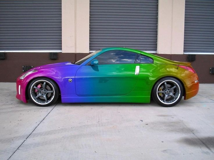 Touch The Rainbow. Nissan 350Z. Sports Car.