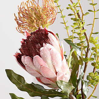 Silk Flowers And Artificial Plants Crate And Barrel Crate And Barrel Lush Bouquet Protea